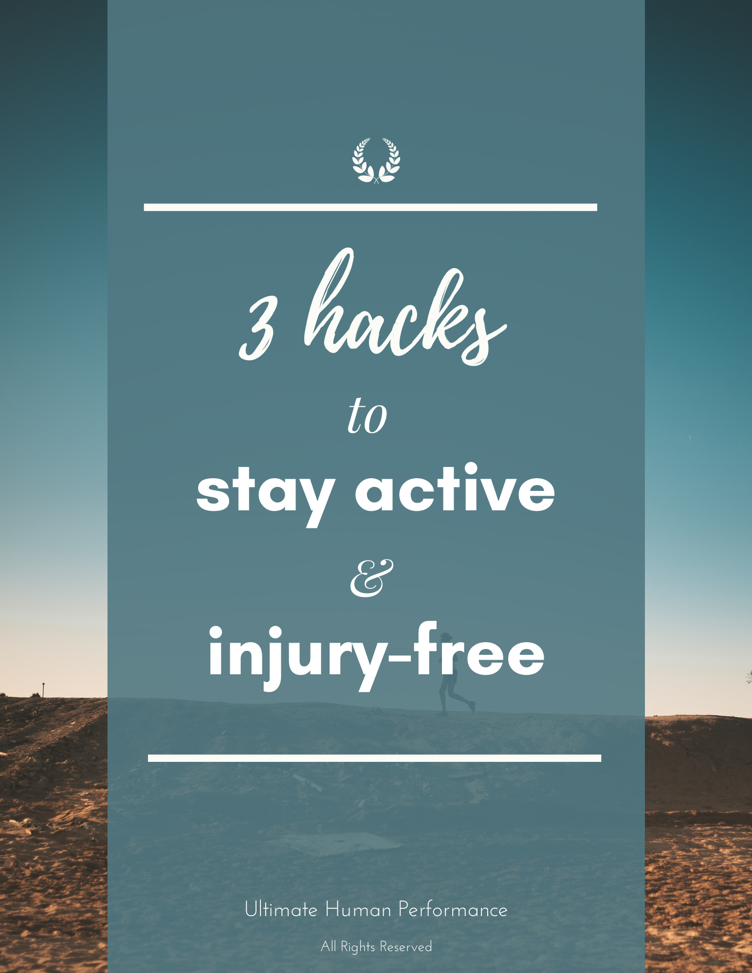 """PDF cover """"3 hacks to stay active and injury-free"""